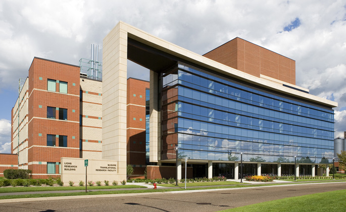 Lions Research building and McGuire Translational Research Facility