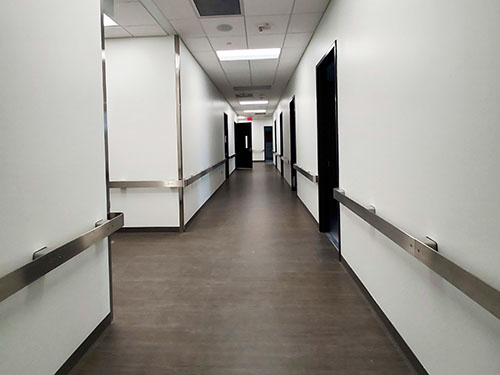 Hallway of Health Sciences Education Center