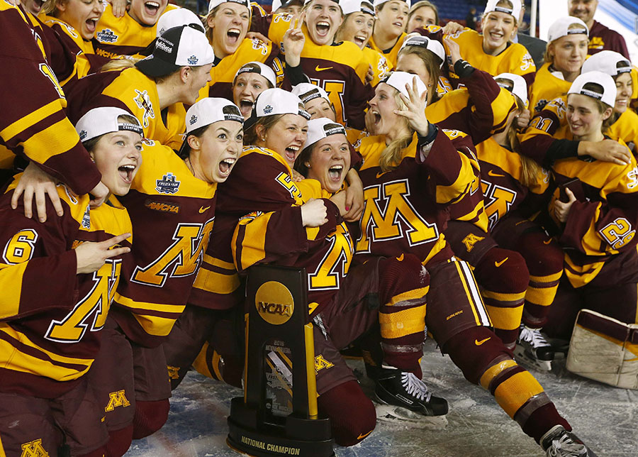 University of Minnesota women's hockey NCAA win
