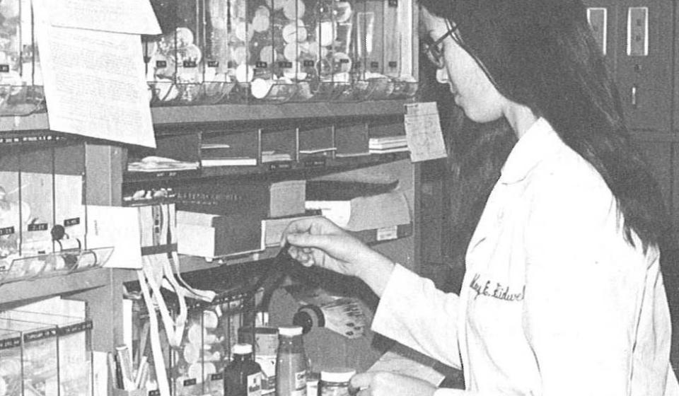 woman in lab